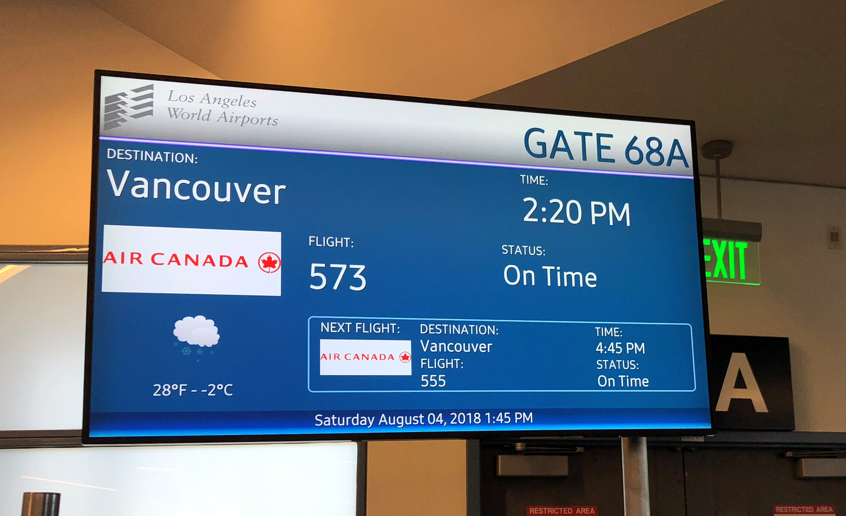 To flights yvr today lax